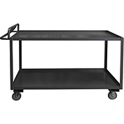 Durham Mfg.® Stock Cart RSCE-3060-2-3.6K-95 with Ergonomic Handle - 60 x 30 3600 Lb. Cap.