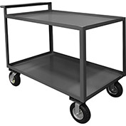 Durham Mfg.® Stock Cart RSCR-2448-95 with Raised Handle - 48 x 24 All Lips Up 1200 Lb. Cap.