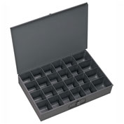 Durham Steel Scoop Compartment Box 202-95 - 24 Compartment, 13-3/8x9-1/4x2 - Pkg Qty 6