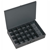 Durham Steel Scoop Compartment Box 204-95 - 21 Compartment, 13-3/8x9-1/4x2 - Pkg Qty 6