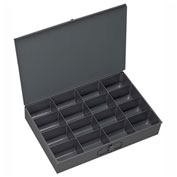 Durham Steel Scoop Compartment Box 209-95 - 16 Compartment, 13-3/8x9-1/4x2 - Pkg Qty 6
