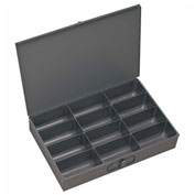 Durham Steel Scoop Compartment Box 211-95 - 12 Compartment, 13-3/8x9-1/4x2 - Pkg Qty 6