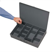 Durham Steel Scoop Compartment Box 215-95 - Adjustable Compartment, 13-3/8x9-1/4x2 - Pkg Qty 6