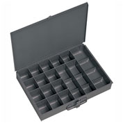 Durham Steel Scoop Compartment Box 227-95 - 17 Compartment, 13-3/8x9-1/4x2 - Pkg Qty 6