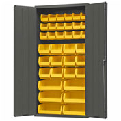 "Durham Welded Bin Cabinet 3602-BLP-36-95 - 36"" Flush Door 36 Bins"