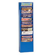 11 Pocket Vertical Literature Rack - Blue