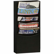 5 Pocket Vertical Literature Rack - Black