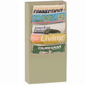 5 Pocket Vertical Literature Rack - Tan