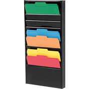 10 Pocket Medical Chart & Special Purpose Literature Rack - Black