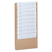 10 Pocket Medical Chart & Special Purpose Literature Rack - Tan