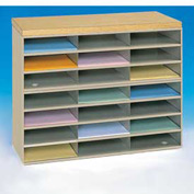 21 Opening Horizontal Literature Rack - Tan