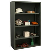 "Durham 5022-3S-95 Extra Heavy Duty/Enclosed Shelving 72"" x 24"" x 60"", 3 Shelf, Gray"