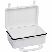 "First Aid Box Polypropylene W/ Gasket - 7-11/16"" x 2-3/8"" x 4-9/16"" - Pkg Qty 50"