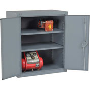 "Global™ 12 Gauge Heavy Duty 36"" W x 24"" D x 36"" H Counter High Cabinet, Gray"