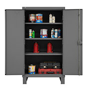 "Global&#8482 12 Gauge Heavy Duty 36"" W x 24"" D x 66"" H, Cabinet, Gray"