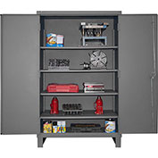 "Global&#8482 12 Gauge Heavy Duty 48"" W x 24"" D x 78"" H Cabinet, Gray"