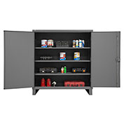 "Global&#8482 12 Gauge Heavy Duty 60"" W x 24"" D x 66"" H Cabinet, Gray"