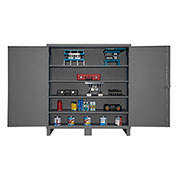 "Global&#8482 12 Gauge Heavy Duty 72"" W x 24"" D x 78"" H Cabinet, Gray"