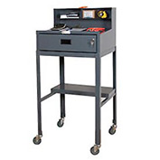 "Durham MSD-2023-95 23""W x 51""H Mobile Shop Desk - Open"