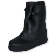 "TREDS 12"" Rubber Overboots, Men's, Black, Size 3-4, 1 Pair"
