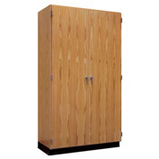 "Diversified Woodcrafts Tall Storage Science Cabinet - 48""L x 22""W x 90""H - Oak"