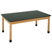 "Plain Apron Table 72""L x 24""W - Chemguard Top"
