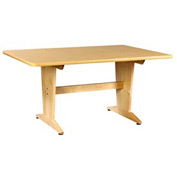 "Planning Table 60""L x 42""W x 26""H - Natural Birtch Plastic Laminate Top"