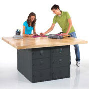Four-Station Workbench Blk- 4 Vises