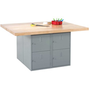 4-Station Workbench W/0 Vises