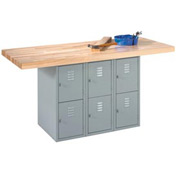 2-Station Workbench W/ 2 Vises