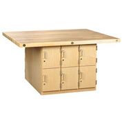 4-Station Maple Workbench W/ 4 Vises