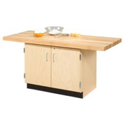 2-Station Single Faced Workbench W/ 2 Vises