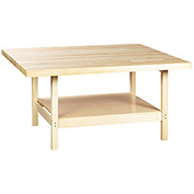 "4 Station Workbench 64""L x 54""W - Maple Top"