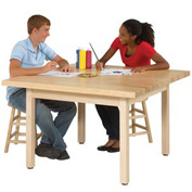 "Four-Student Maple Craft Table - 48"" X 48"""
