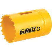 "DeWALT® Bi-Metal Hole Saw, D180022, 1-3/8"" Hole Size, 250 RPM"