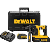"DeWALT DCH273P2 20V Max XR Brushless 1"" L-Shape SDS Plus 3 Mode Rotary Hammer Kit"