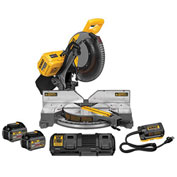 "DeWalt DHS716AT2 Flexvolt 12"" 120V Max Dbl Bevel Compound Miter Saw Kit 2 Battery, Charger & Adapter"