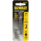 "DeWALT® Impact Ready Adaptor, DW2542IR, 1/4"" Hex Shank to 3/8"" Socket"