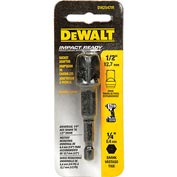 "DeWALT® Impact Ready Adaptor, DW2547IR, 1/4"" Hex Shank to 1/2"" Socket"