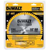 "DeWALT® Series 20 Fine Finish Saw Blade, DW3106, 5/8"" Arbor, 10"" Diameter, 60 TPI"
