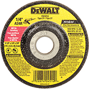"DeWalt Metal Grinding Wheel, DW4514, Type 27, 4-1/2"" Diameter, 13300 RPM, 25/PK - Pkg Qty 25"
