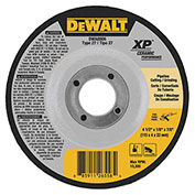 "DeWalt DWA8906 XP Ceramic Metal Grinding Wheels Type 27 4-1 2"" x 7 8"" 24 Grit Ceramic..."