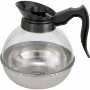 Winco CD-64K Plastic Coffee Decanter, 64 oz, Stainless Steel Base Package Count 6
