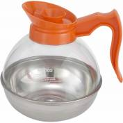 Winco CD-64O Plastic Coffee Decanter Decaf, 64 oz, Stainless Steel Base - Pkg Qty 6
