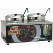 Winco ESM-27HNB Soup Merchandiser W/ Two 7 Qt. Insets