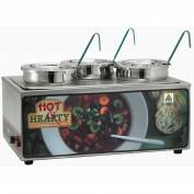 Winco ESM-34HNB Soup Merchandise W/ Three 4 Qt. Insets