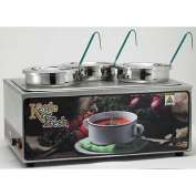 Winco ESM-34KNB Soup Merchandiser W/ Three 4 Qt. Insets