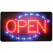 "Winco LED-6 LED ""OPEN"" Sign w/Triple Flashing Pattern"