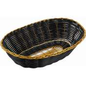 Winco PWBK-9V Oval Woven Basket Package Count 3