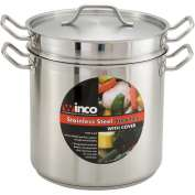 Winco SSDB-20 Double Boiler W/ Cover